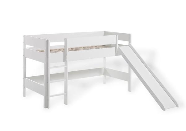 Spielbett erhöht (100 cm) mit Leiter und Rutsche