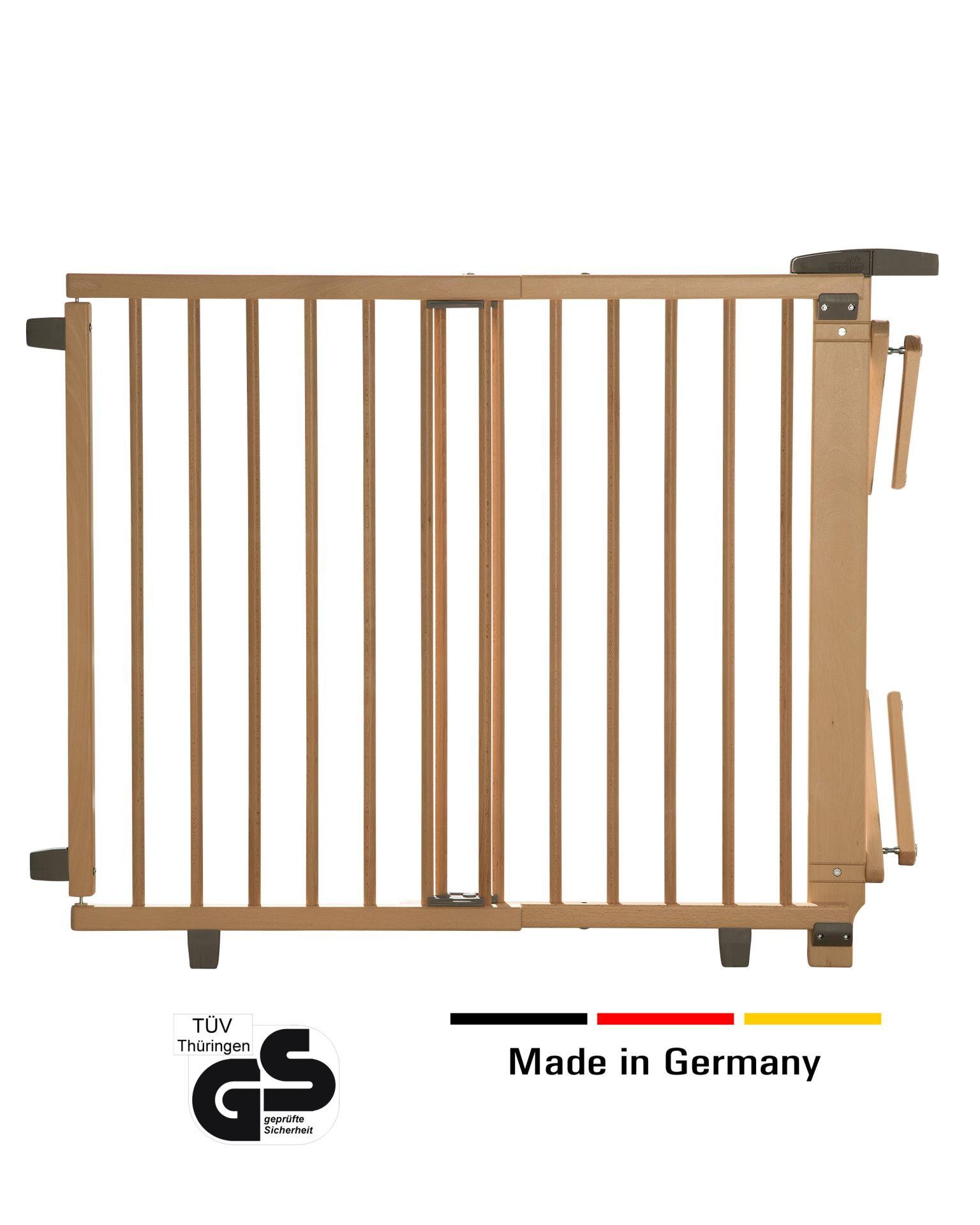 Buche massiv Geuther Treppenschutzgitter schwenkbar 95-135 cm weiß lackiert